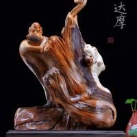 崖柏根雕:达摩祖师